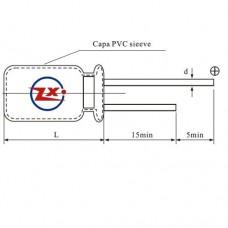 0001 - CAPACITOR ELETROLÍTICO 105°