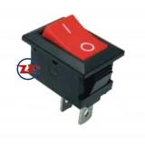 0021 – Chave Gangorra KCD1-101 2T 6A 250V Vermelha com marcação