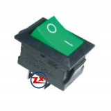 0022 – Chave Gangorra KCD1-101 2T 8A 250V Verde com marcação