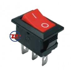 0023-1 – Chave Gangorra KCD1-102 3T 6A 250V Vermelha com marcação