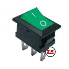 0023-3 – Chave Gangorra KCD1-102 3T 6A  250V Verde com marcação