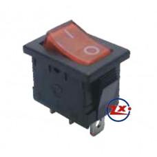0024 – Chave Gangorra KCD1-102N com neon 3T 6A 250V com marcação cores: vd/am/az/vm