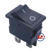 0026 – Chave Gangorra KCD1-104 4T 2A/8A 250V Preta com marcação