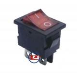 0027 – Chave Gangorra KCD1-104N  com neon 4T 2A/8A 250V com marcação cores: vm/az/vd