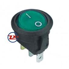 0029-23 – Chave Gangorra KCD1-106A 102N com neon 11 EBA 3T 6A 250V verde com marcação