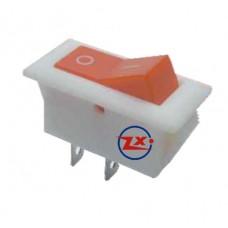 0036 – Chave Gangorra KCD2-101 2T 15A 250V branca e vermelha com marcação