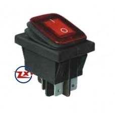 0037-2 – Chave Gangorra KCD2-201N 2W 220V com neon prova d'água com marcação vermelho