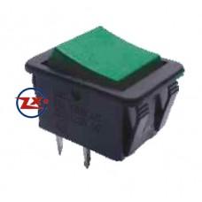 0043-4 – Chave Gangorra KCD4-201C 2T 15/30A 250V sem marcação pulsante verde
