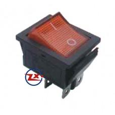 0044 – Chave Gangorra  KCD4-201N com neon 4T 15A/30A 250V com marcação cores:  vm/vd/az