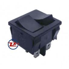 0048 – Chave Gangorra  KCD5-202 6T 6A/12A 250V sem marcação dupla preta