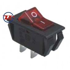 0050 – Chave Gangorra KCD6-101N com neon 2T 6A 250V com marcação vermelha