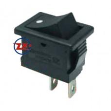 0055 – Chave Gangorra KCD1-101 NF 2T 6A 250V pulsante c/ ponto preta