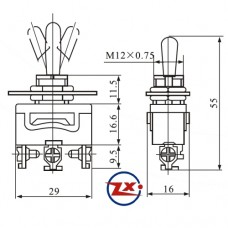 0129 - Chave com Alavanca - KN-1121 ON-OFF