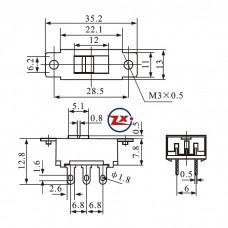 0144-4 - Chave HH - SS22K15C 127/220V - Com Rosca - Com Gravação