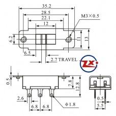 0144-5- Chave HH - SS22K15 127V/220V G7 Com Rosca - Gravação - Haste GF