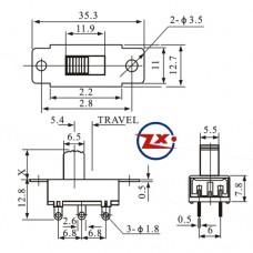 0145 - Chave HH - SS22K28 G5 2 Posições Com Rosca Sem Gravação