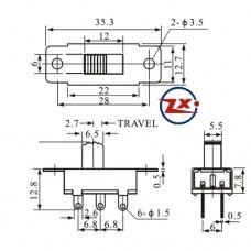 0146 - Chave HH - SS23E28 G5 3 Posições
