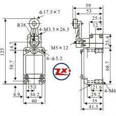 0069-101 - Chave Micro Switch - WL CA2-2 - Chave Fim de Curso