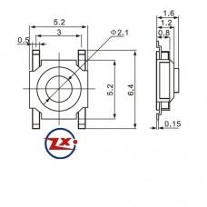 KFC-A06-2 - 5x2x1,6 - Amarelo Branco