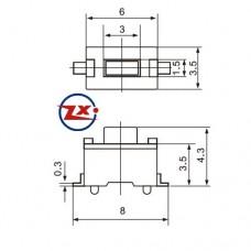 KFC-A06-5 - 3x6x5 2T 180° - Preto