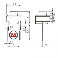 0072-1 - Chave Tactil KFC-A06-6X6X5 2T 180°