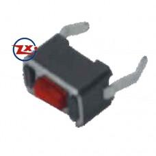 0087-6 Chave Tactil - KFC-A06-3X6X5 180° Vermelho