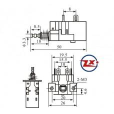 0159-1-5 - Chave Tecla - KDC-A05 4T