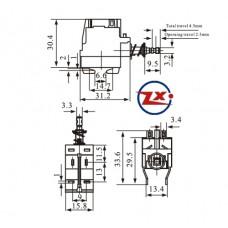 0159-1 - Chave Tecla - KDC-A04-W 4T Com Trava