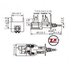 0159-2 - Chave Tecla - KDC-A08-3