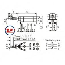0159-3 - Chave Tecla  - KDC-A14-1 4P com Trava