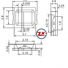 YHS-2835 - CHIP DE LED SMD