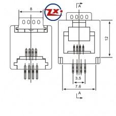YH-13 4P4C - CONECTOR JACK SMD