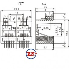 YH-02 623 6P6C - CONECTOR JACK SMD