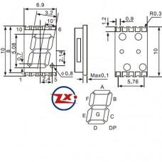 DP-LED-2 - DISPLAY LED SMT