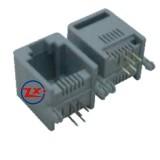 0754-1 - YH55-04 6P4C RJ11 PRETO/CINZA