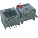 0755-1 - YH55-05 8P8C RJ45 PRETO/CINZA