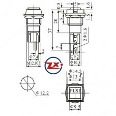 0177 - PORTA FUSIVEL - FH-101 5x20 PARA PAINEL CHANFRADO 2 LADOS