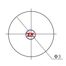 0003-1-3 - SUPORTE PARA LED 3mm PRETO