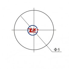 0003-2 - SUPORTE PARA LED 5mm CROMADO