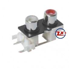 0204-14-1 - TOMADA RCA - AV-8,4-9 Branco Vermelho - T-Br