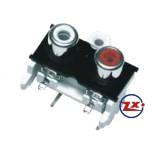 0204-20 - TOMADA RCA - AV2-8,4-10 Branco Vermelho