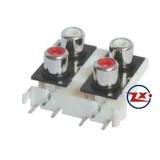 0205-10 - TOMADA RCA - AV4-8,4-9 Vermelho Branco T-Vm