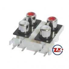 0205-11 - TOMADA RCA - AV4-8,4-9 - Branco Vermelho T-Br