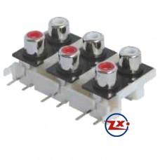 0205-50 - TOMADA RCA - AV6-8,4-9 Vermelho Branco T-Vm