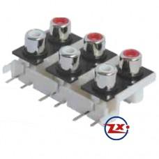 0205-52 - TOMADA RCA - AV6-8,4-9 Branco Vermelho T-Br