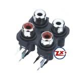 0205 - TOMADA RCA - AV4-8,4-7 Branco Vermelho - T-Vm