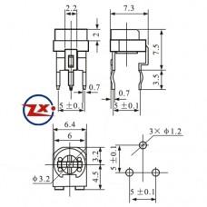0200 - TRIMPOT - RF-637V HORIZONTAL - 100R  200R  330R  500R  1K  2K  5K  10K  20K  50K  100K  200K  300K  500K  1M